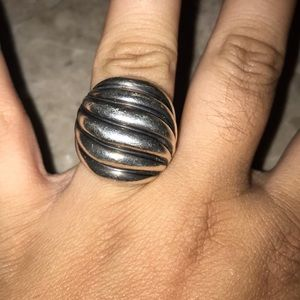 David Yurman retired Wide Cable Ring with Gold DY